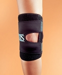 Hely Weber Kuhl Shields Brace for patella stabilization during athletic competition.